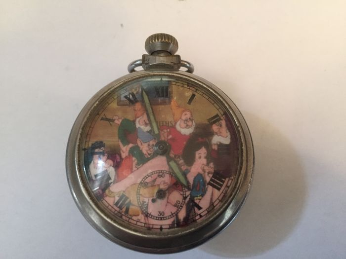 Smiths ingersoll style erotic dial pocket watch -- 1950s