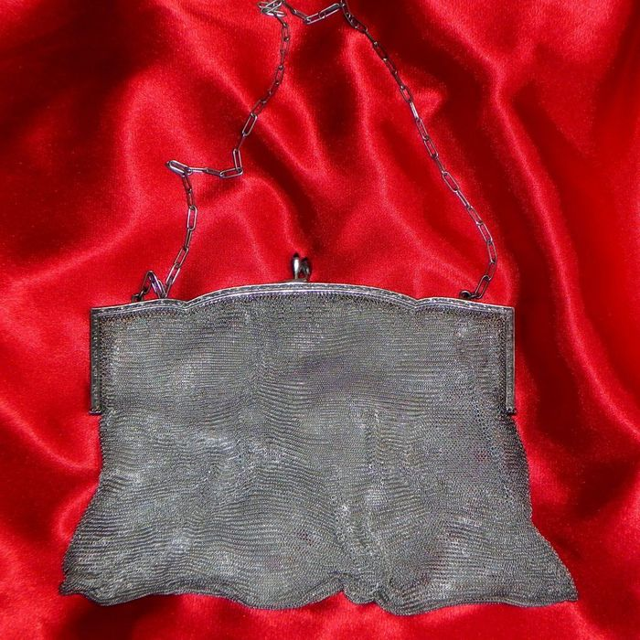 chain bag - .800 silver - Germany - Early 20th century