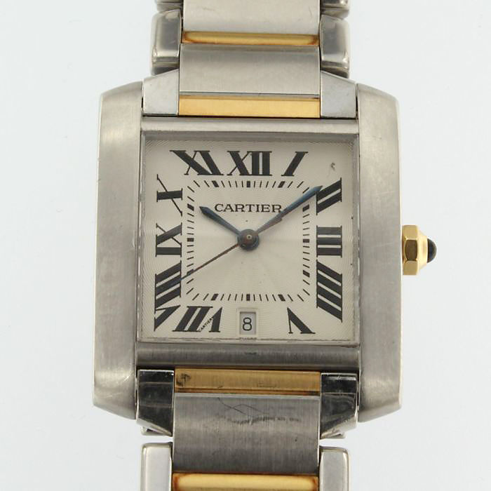 Cartier Tank Francaise – men's wristwatch – 2000s-2010s.