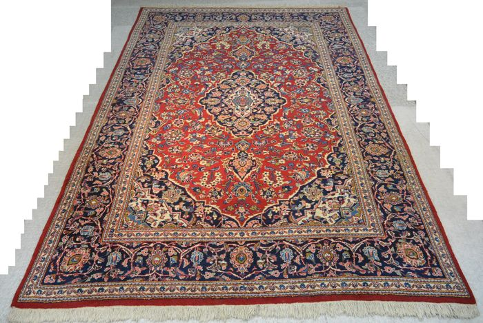 Wonderful Persian carpet, Kashan 309 x 201cm End of the 20th century