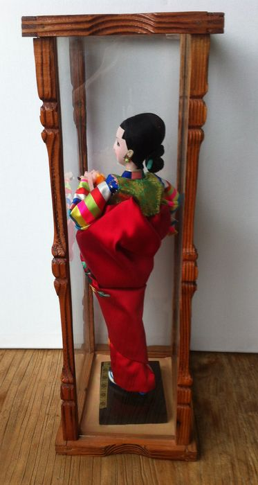 Geisha Doll In Glass Case