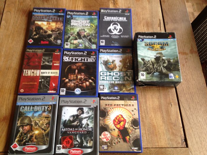 Lot of 10 Playstation 2 Action games - Including Socom
