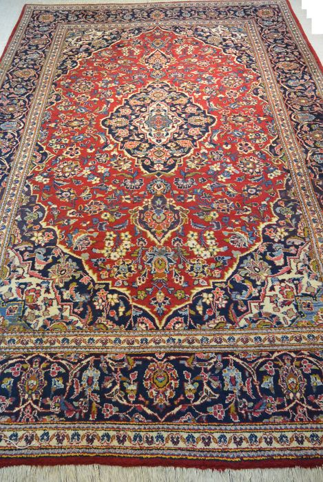 Wonderful Persian carpet, Kashan 309 x 201 cm End of the 20th century