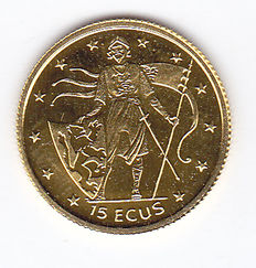 Gibraltar – 15 ECU 1995 Gold