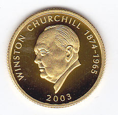 "Samoa I Sisifo – 10 Dollars 2003 ""Winston Churchill"" – gold"