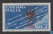 Italian stamp with print