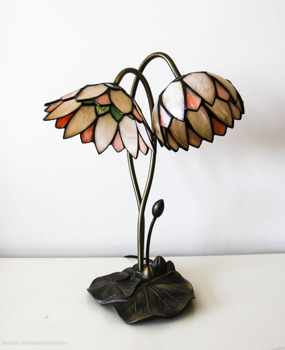 Nice Tiffany Style Table Lamp The Lotus Flower Catawiki