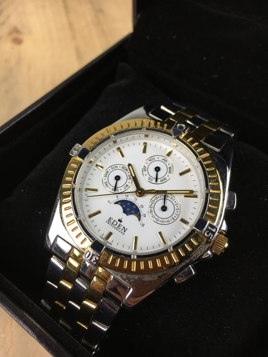 new products a409f dd72a Eden Switzerland Moonphase 10019H – Armbanduhr - Catawiki
