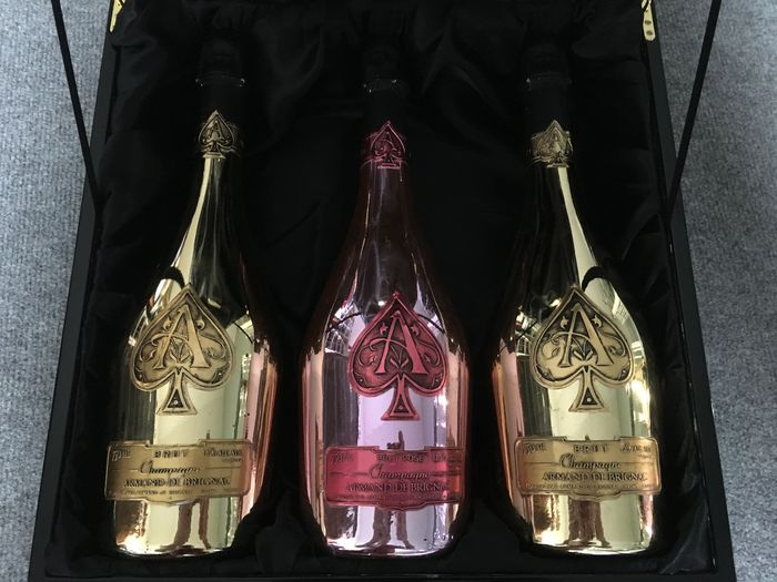 Armand de Brignac 'Ace of Spades' Trilogie Set - 3 bottles, - Catawiki