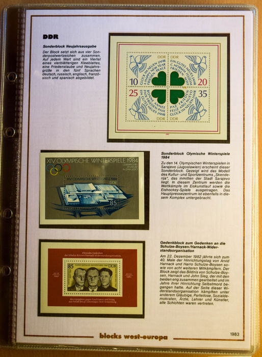 European countries 1982/1985 - Collection of miniature
