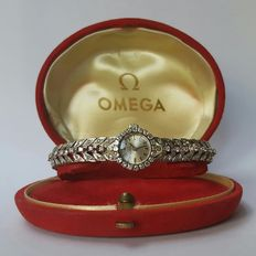 Omega - White gold vintage women's watch with 124 diamonds - unknown date