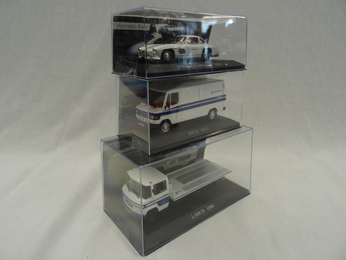IXO 1:43 white MB Mercedes Benz L608 D 1980