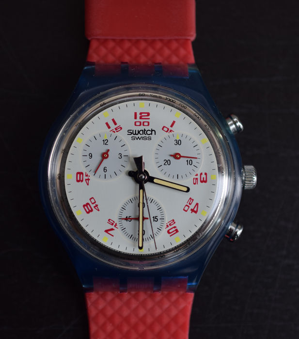 Swatch, Chrono # JFK, SCN103 # never worn, mint in original box with