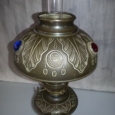 Kosmos Brenner oil lamp made of bronze brass and Catawiki
