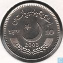 Pakistan 10 roupies 2003