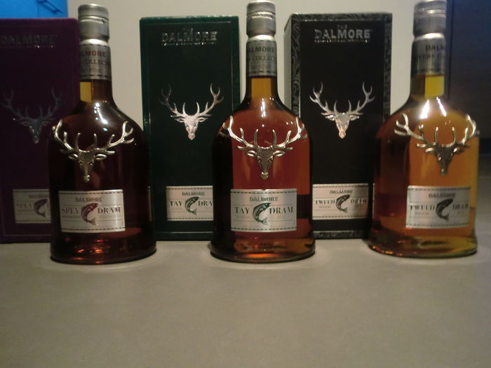 The Dalmore Rivers Collection: Spey Dram, Tweed Dram and Tay Dram