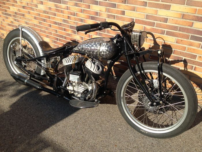 harley davidson wla bobber 1942 catawiki. Black Bedroom Furniture Sets. Home Design Ideas