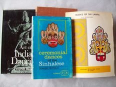 Lot with 5 books on performing arts in South Asia - 1957/1986.