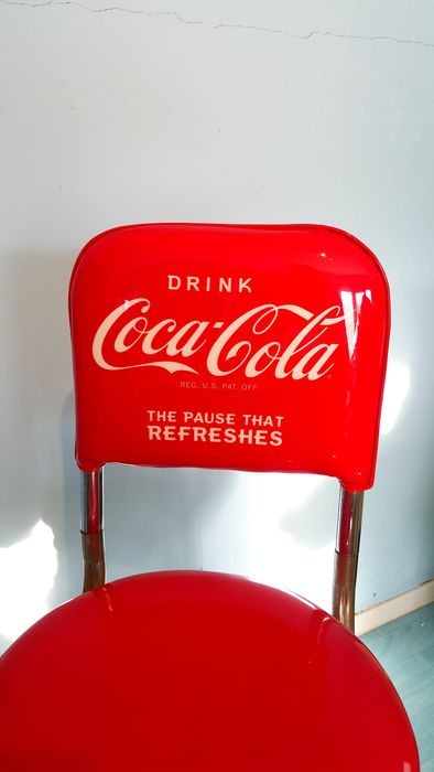 Authentic Coca Cola Pub Set Quot Of Two Stools With Table