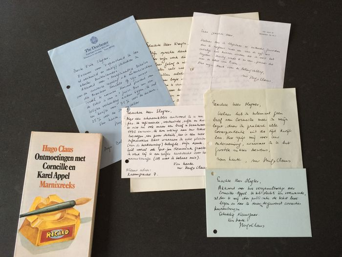 Hugo Claus - Four handwritten letters and two postcards - 1968-1972