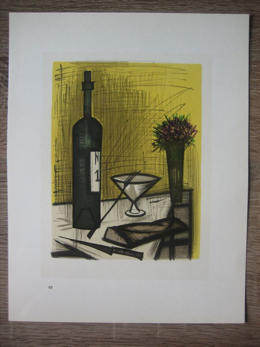 Bernard buffet le pain et le vin catawiki for Bernard buffet vente