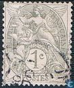 Postage Stamps - France [FRA] - Allegory (Type Blanc)
