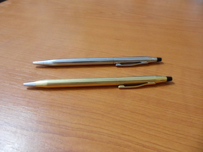 Two CROSS Ballpoint pens - USA Century II and Ireland Gold-Plated