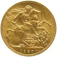 South Africa - Sovereign 1927 George V - gold