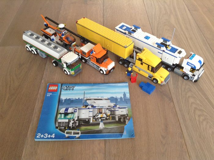 City 3221 7686 7743 3180 Lego Truck Helicopter