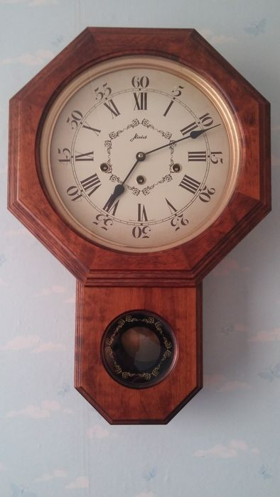 Haid Hermle Westminster Wall clock vintage double door -- 1980u0027s & Haid Hermle Westminster Wall clock vintage double door -- 1980u0027s ...