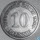 German Empire 10 pfennig 1889 (E)