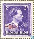 "Postage Stamps - Belgium [BEL] - King Leopold III, with Crown and ""V"""