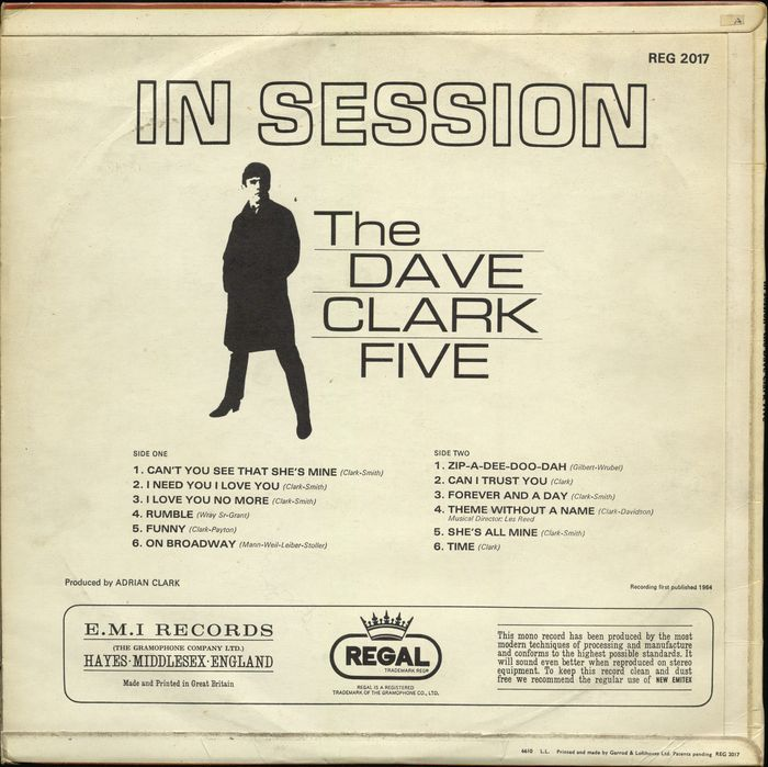 Lot of FIVE albums by The Dave Clark Five (and Clark solo) - Catawiki