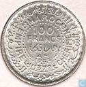 Morocco 100 francs 1953 (year 1372)