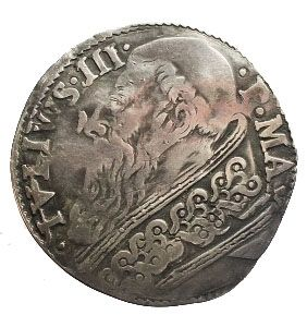 Italy, Papal States - Giulio with the portrait of Giulio III (1550-1555) - silver