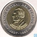 "Monnaies - Equateur - Equateur 100 sucres 1997 ""70th Anniversary of the Central Bank"""