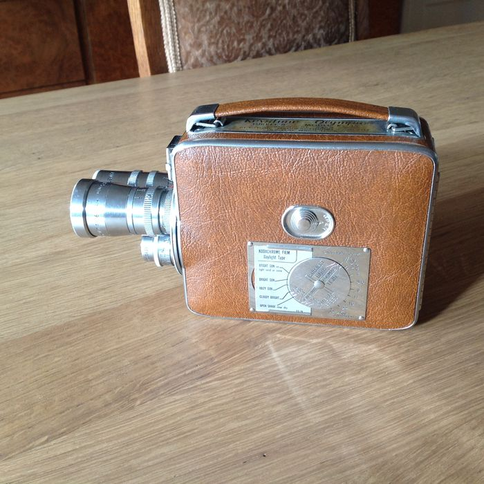 Keystone Olympic Turret 8 model K 35 - 1955 - double 8 winding film camera  - Catawiki