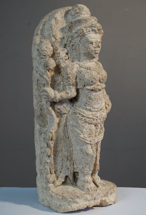 Lime stone carving of a goddess java indonesia catawiki