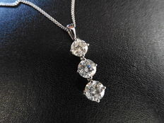 Platinum Diamond Trilogy Pendant - 0.75ct H/I  I1