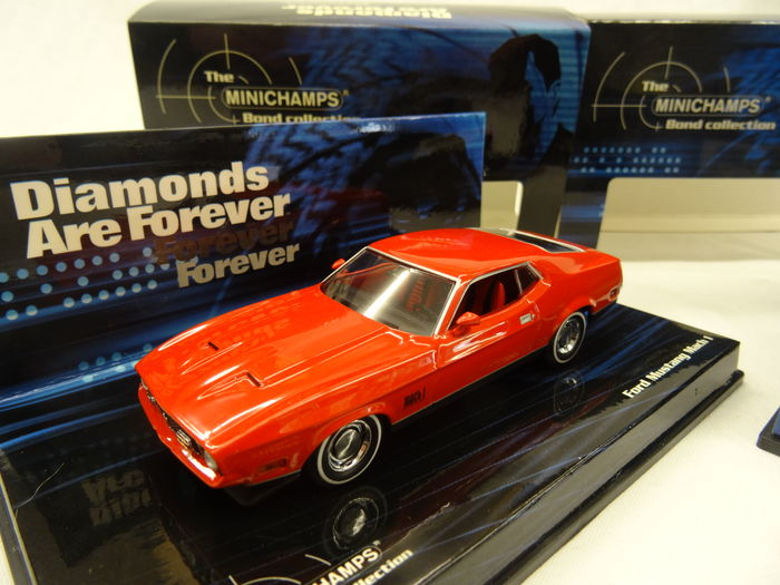 James Bond Minichamps Bond Collection Scalel X James Bond Models Ford Mustang Mach  And Toyota  Gt