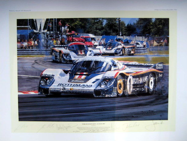 Decorative object - Porsche 956 #1 - 6x Signed Edition- Winner Le Mans - 1982 (1 items)