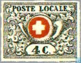 Postage Stamps - Switzerland [CHE] - Post Horn and Coat of Arms