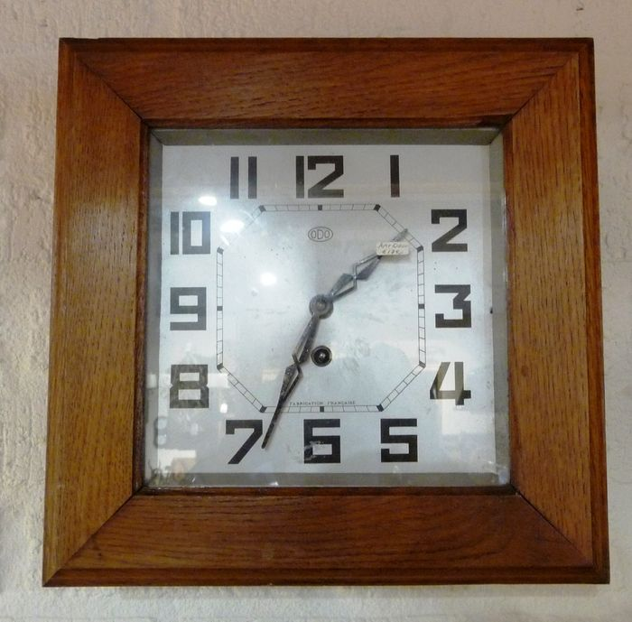 French Art Deco Wall Clock    Odo    Period Approx. 1940
