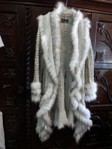 Karen Ritzi - Coat Rabbit Fur and Wool, Hand Made
