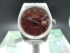 "Rolex Datejust 1601  ""Stella"" Oxblood – unisex watch – 1969"
