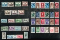 Belgium, 1930-1958, complete collection of airmail stamps, OBP PA1-35