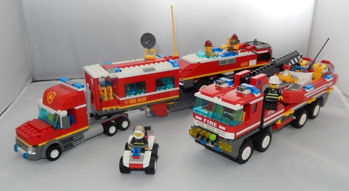 City 4430 7213 Fire Transporter Off Road Fire Truck