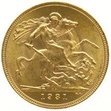 South Africa – Sovereign 1931, George V - gold