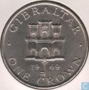 Gibraltar 1 crown 1969
