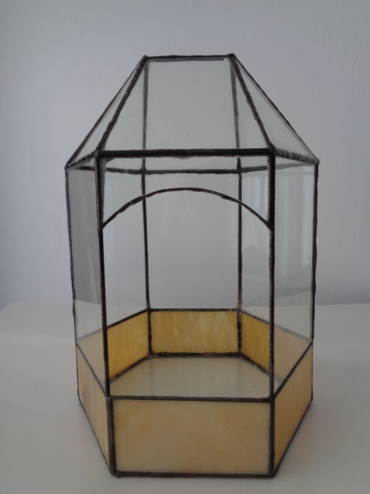 Classic Vintage Stained Glass Terrarium Catawiki